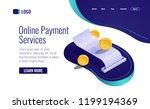 payment concept  paper receipt... | Shutterstock .eps vector #1199194369