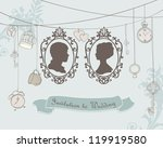 vector vintage  wedding...