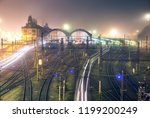 prague main railway station... | Shutterstock . vector #1199200249