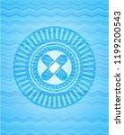 crossed bandage plaster icon... | Shutterstock .eps vector #1199200543