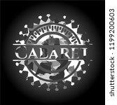 cabaret on grey camo texture | Shutterstock .eps vector #1199200603