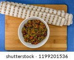delicious and healthy quinoa... | Shutterstock . vector #1199201536