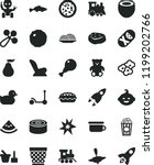 solid black flat icon set... | Shutterstock .eps vector #1199202766
