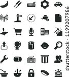 solid black flat icon set... | Shutterstock .eps vector #1199207986
