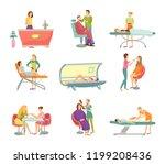 spa salon pedicure and barber... | Shutterstock .eps vector #1199208436