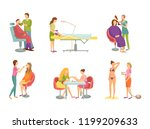 barber shop and cosmetician ...   Shutterstock .eps vector #1199209633