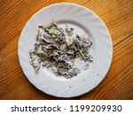 ashes from the burned dollars... | Shutterstock . vector #1199209930