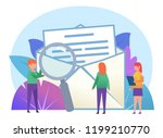 send or receive message  email  ... | Shutterstock .eps vector #1199210770