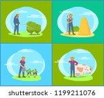 protective measurements on land ... | Shutterstock .eps vector #1199211076