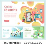 online shopping team job... | Shutterstock .eps vector #1199211190