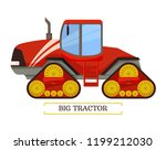 big tractor machinery isolated... | Shutterstock .eps vector #1199212030