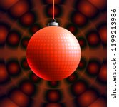 colorful glass ball on creative ... | Shutterstock .eps vector #1199213986