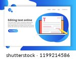 editable online document.... | Shutterstock .eps vector #1199214586