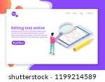 editable online document.... | Shutterstock .eps vector #1199214589