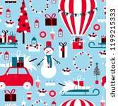 christmas set with hot air...   Shutterstock .eps vector #1199215333