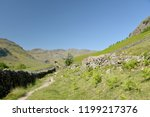 crinkle crags at head of... | Shutterstock . vector #1199217376