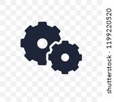 cogwheel transparent icon.... | Shutterstock .eps vector #1199220520