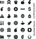 solid black flat icon set... | Shutterstock .eps vector #1199221339