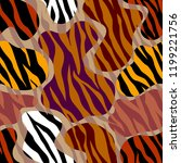 abstract exotic pattern in... | Shutterstock .eps vector #1199221756