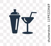 shaker vector icon isolated on... | Shutterstock .eps vector #1199223469