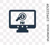 pay per click vector icon... | Shutterstock .eps vector #1199223709