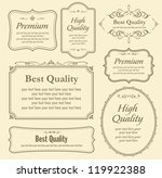 vector set of calligraphy | Shutterstock .eps vector #119922388