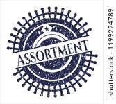 blue assortment distress grunge ... | Shutterstock .eps vector #1199224789