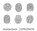 identification fingerprints... | Shutterstock .eps vector #1199225470