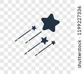 shooting star vector icon... | Shutterstock .eps vector #1199227336