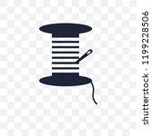 spool of thread transparent... | Shutterstock .eps vector #1199228506