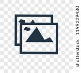 Pic vector icon isolated on transparent background, Pic transparency logo concept