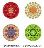 set of kaleidoscopes. white... | Shutterstock .eps vector #1199230270
