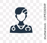 doctor vector icon isolated on... | Shutterstock .eps vector #1199230549
