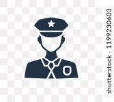 policeman vector icon isolated...   Shutterstock .eps vector #1199230603