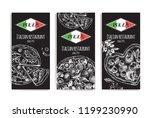 design template for italian... | Shutterstock .eps vector #1199230990