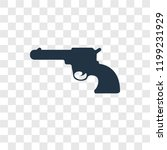 revolver vector icon isolated... | Shutterstock .eps vector #1199231929