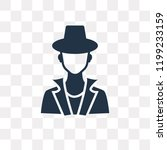 detective vector icon isolated...   Shutterstock .eps vector #1199233159