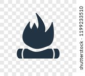 bonfire vector icon isolated on ... | Shutterstock .eps vector #1199233510