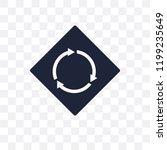 circular intersection sign... | Shutterstock .eps vector #1199235649