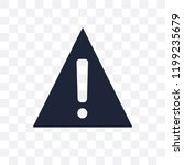 danger sign transparent icon.... | Shutterstock .eps vector #1199235679