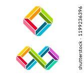 vector abstract logo design...   Shutterstock .eps vector #1199236396