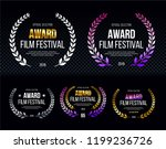 set of elegants award logotype  ... | Shutterstock .eps vector #1199236726