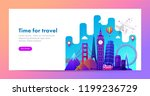 travel banner design with... | Shutterstock .eps vector #1199236729
