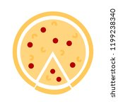 pizza symbol icon. simple...