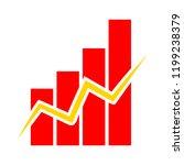 graph symbol icon. simple... | Shutterstock .eps vector #1199238379