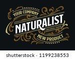 victorian badge minimalist... | Shutterstock .eps vector #1199238553