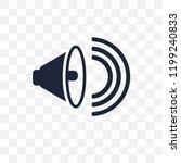 high volume transparent icon.... | Shutterstock .eps vector #1199240833