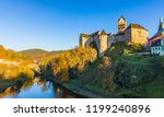 colorful town loket in autumn... | Shutterstock . vector #1199240896
