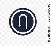 u turn sign transparent icon. u ... | Shutterstock .eps vector #1199240950