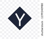 y intersection sign transparent ... | Shutterstock .eps vector #1199240980